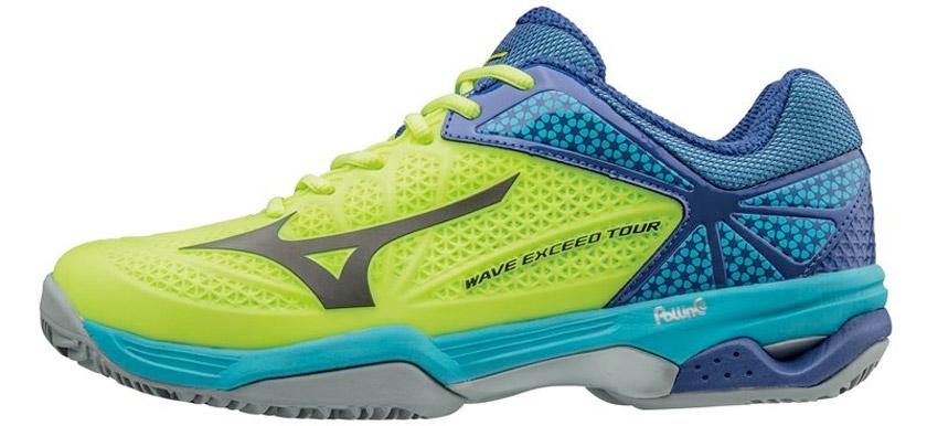 Las 3 mejores zapatillas de pádel de Mizuno para moverse sobre la pista - Mizuno Wave Exceed Tour 2