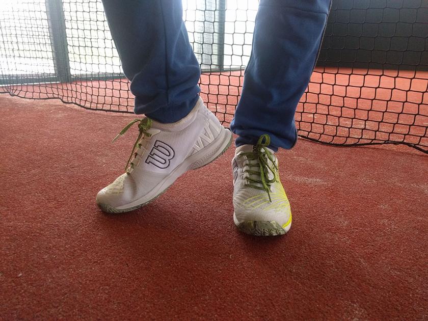 Sensaciones de sujeción de las zapatillas de pádel Wilson Kaos 2.0