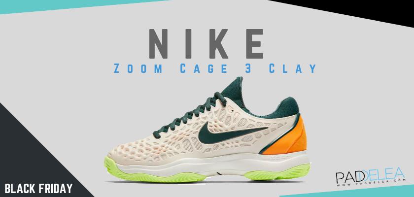 Black Friday Zapatillas de padel 2018, las 8 mejores ofertas que no puedes dejar escapar, Nike Zoom Cage 3 Clay