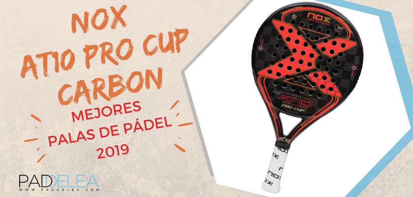 Mejores palas de pádel 2019 - Nox AT10 Pro Cup Carbon