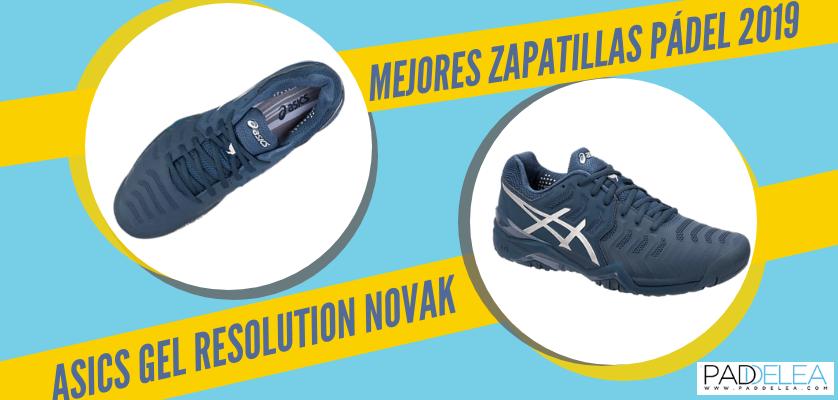 Mejores zapatillas de pádel 2019 - ASICS Gel Resolution Novak