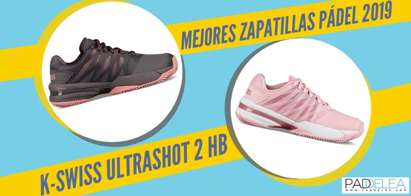 Mejores zapatillas de pádel 2019 - K-Swiss Ultrashot 2 HB