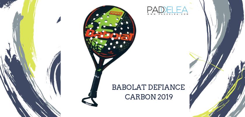 Las mejores palas de pádel de control 2019, Babolat Defiance Carbon 2019